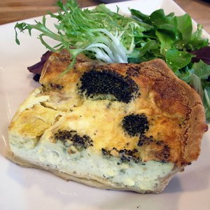 Broccoli quiche at Bread & Lily